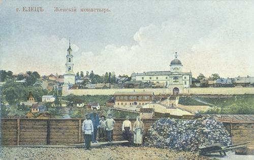 Вид на Знаменский монастырь (начало ХХ в.)